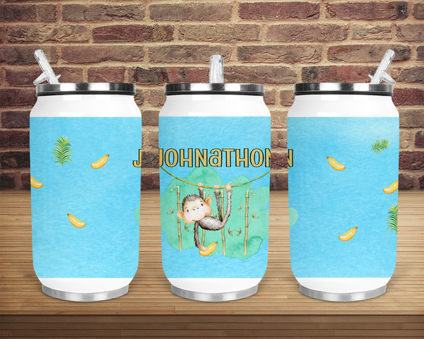 (Instant Print) Digital Download - Personalize your can cup monkey Designs , made for our can cups