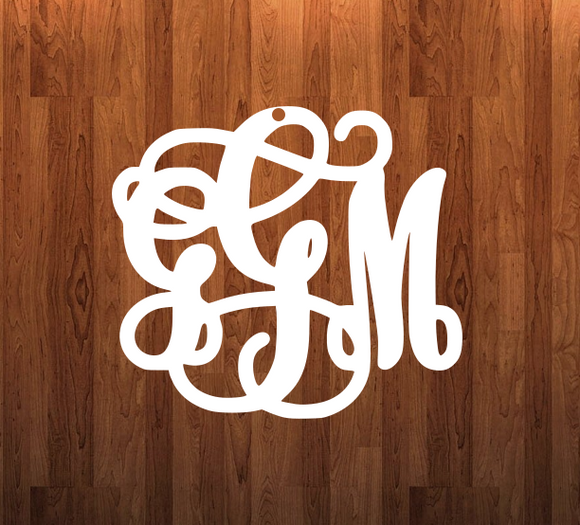 Your monogram Door - Wall Hanger - 3 sizes to choose from -  Sublimation Blank  - 1 sided  or 2 sided options