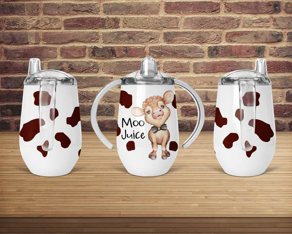 (Instant Print) Digital Download - Moo juice sippy cup Designs , made for our sippy cups