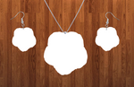 Morning glory necklace sets- you get 10 sets - BULK PURCHASE 10pair earrings and 10pc necklace