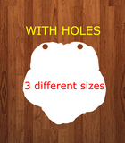 Morning glory with holes - Wall Hanger - 3 sizes to choose from -  Sublimation Blank  - 1 sided  or 2 sided options