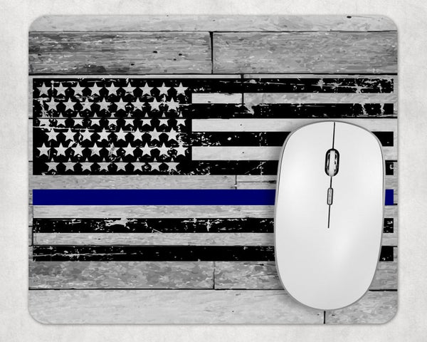 Sublimation Print (ONLY) - Police flag  Mouse Pad - Made for our square mouse pads