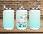 (Instant Print) Digital Download - Personalize your can cup elephant Designs , made for our can cups