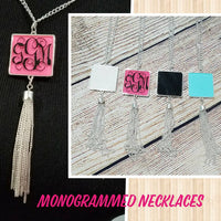Square necklace with tassel