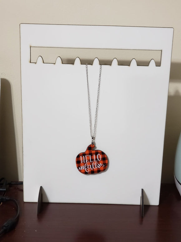 Necklace display stand holds 7-  Sublimation Blank  - 1 sided  or 2 sided options