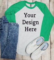 Nextlevel Raglan Green Mockup (Instant Print) Digital Download