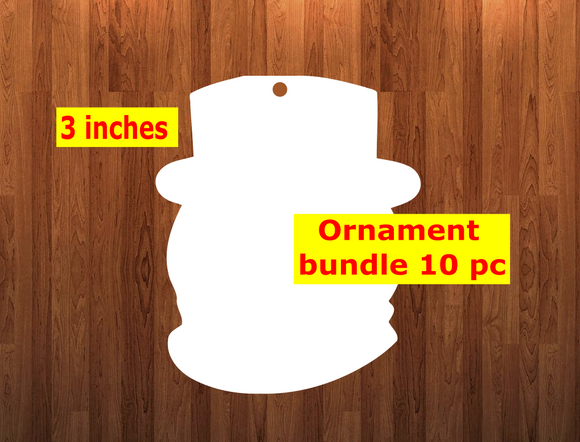 Snowman head shape 10pc or 25 pc  Ornament Bundle Price