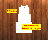 Stacked gift shape 10pc or 25pc Ornament Bundle Price