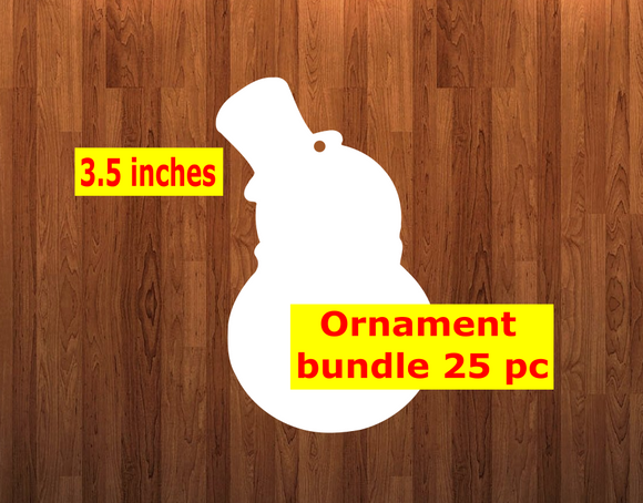 Snowman top hat shape 10pc or 25 pc  Ornament Bundle Price