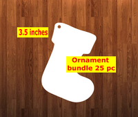 Stocking shape 10pc or 25 pc  Ornament Bundle Price