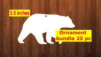 Bear shape 10pc or 25 pc Ornament Bundle Price