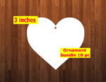 Heart 10pc or 25 pc Ornament Bundle Price