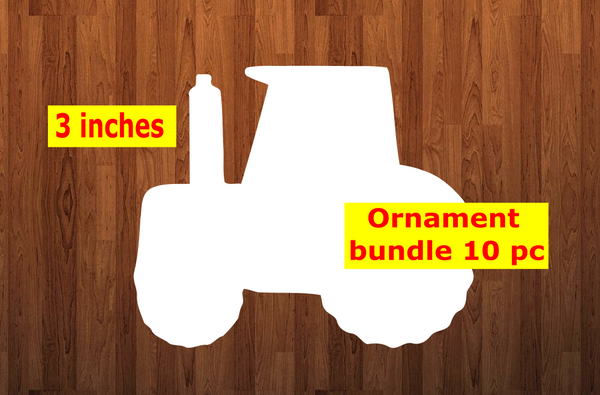 Tractor shape 10pc or 25 pc Ornament Bundle Price