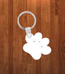 Dog paw Keychain - Single sided or double sided  -  Sublimation Blank