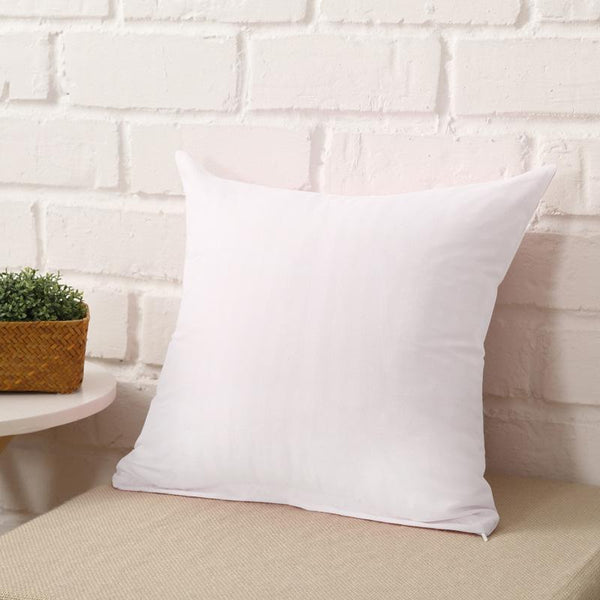 White 100% Polyester Pillow Case With Zipper