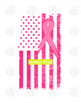 Breast Cancer Ribbon With Pink Flag (Instant Print) Digital Download