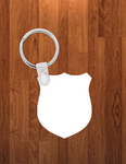 Shield Keychain - Single sided or double sided  -  Sublimation Blank