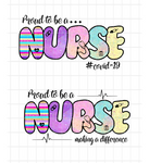 (Instant Print) Digital Download - Proud to be a nurse (bundle of 2pc)