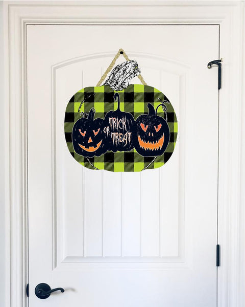Sublimation print - (14 different sizes) - Trick or treat pumpkin  - Made for our MDF sublimation blanks
