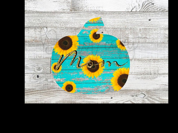 Sublimation print - (14 different sizes) - Mom pumpkin  - Made for our MDF sublimation blanks