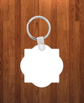 Quaterfoil Keychain - Single sided or double sided  -  Sublimation Blank