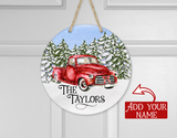 (Instant Print) Digital Download - Red truck winter snow design - made for our blanks