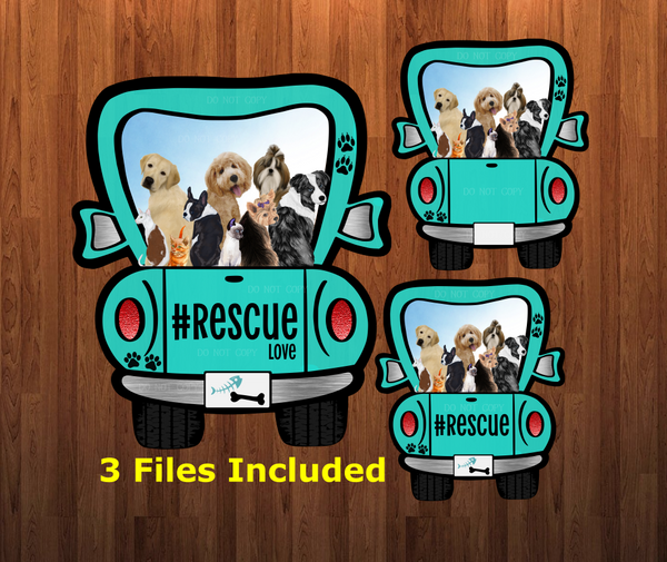 Digital download - Rescue truck 3pc bundle  - made for our sub blanks