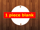 2.5 inch sublimation white blanks circle with 2 holes