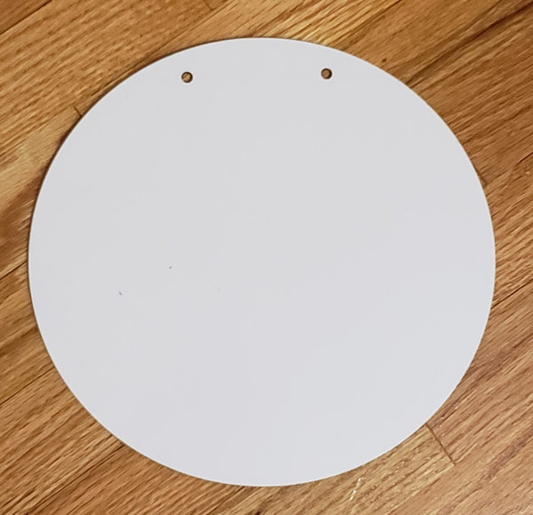 11.5 inch round circle - Sublimation MDF Blank