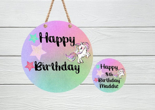 Sublimation print -Dry erase birthday round - Made for our MDF sublimation rounds