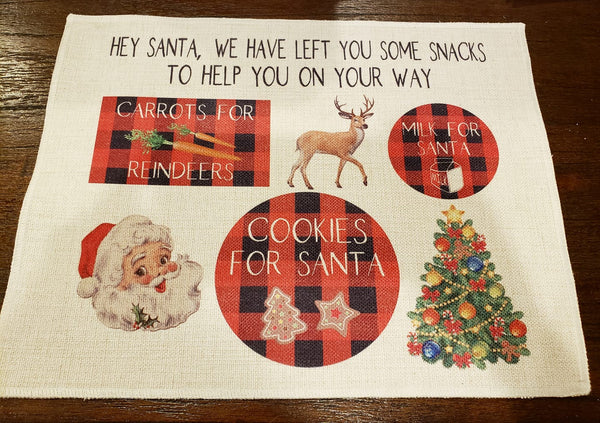 (Instant Print) Digital Download - Santa place mat design