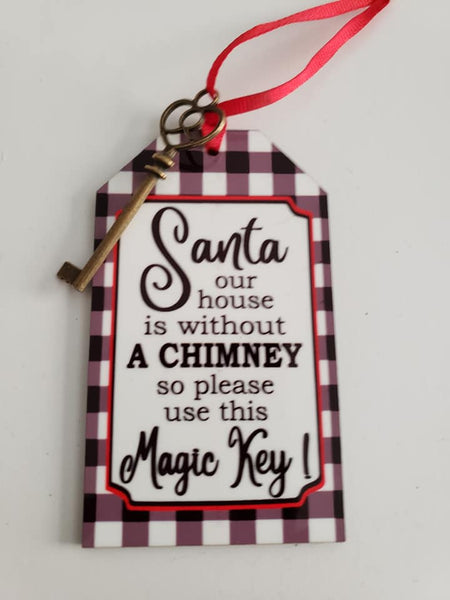Sublimation print ONLY - Santa magic key tag - Made for our MDF sublimation