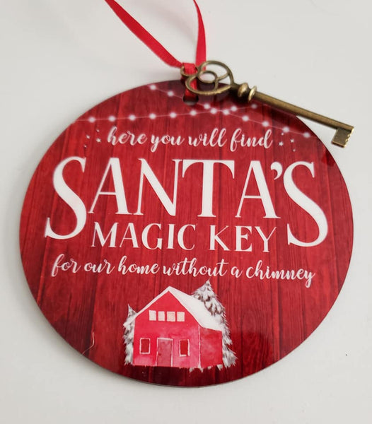 Sublimation print (ONLY) - Santa Magic Key - Made for our MDF sublimation rounds
