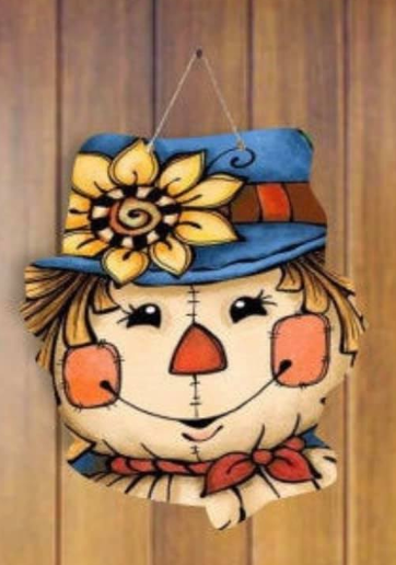 Sublimation print (ONLY) - Sunflower scarecrow - Made for our MDF sublimation blanks