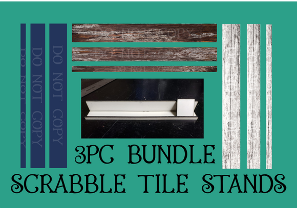 Digital download - 3pc bundle - Designs for our scrabble tile stands  - made for our sub blanks