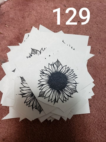 Pocket size sunflower  screen print