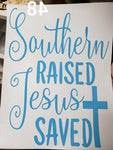 Southern raised screen print