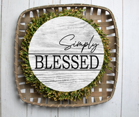 (Instant Print) Digital Download -  Simply blessed round  - made for our blanks
