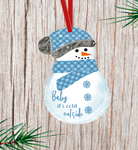 (Instant Print) Digital Download - Baby it's cold outside snowman with beanie
