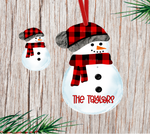 (Instant Print) Digital Download - Buffalo plaid snowman with beanie
