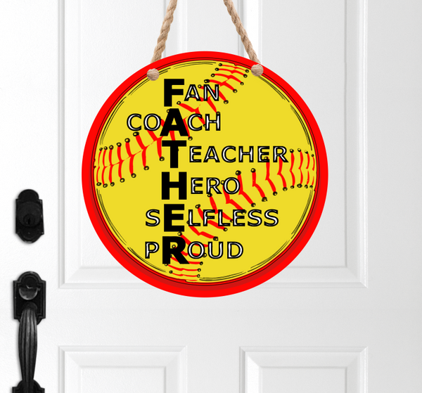 (Instant Print) Digital Download - Softball FATHER