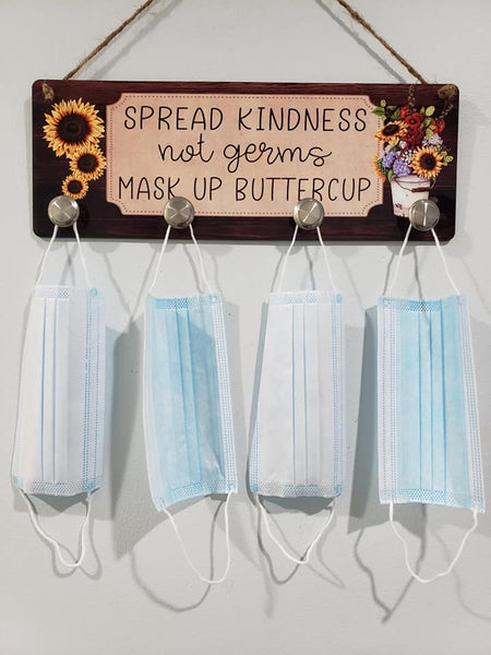 (Instant Print) Digital Download - Spread Kindness not germs Mask Up Buttercup