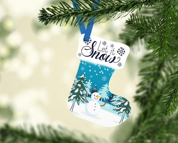 Sublimation print ONLY - Let it snow - Stocking   - Made for our MDF sublimation