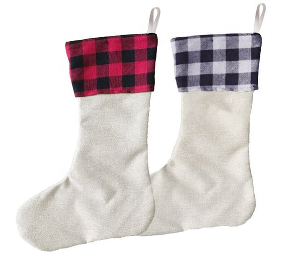 Plaid Stockings , they are great for Sublimation !!! ( Single or bulk buy )