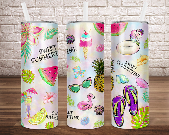 Digital download - 20 oz straight Sweet summertime tumbler design - made for our sub blanks