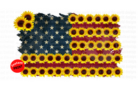 (Instant Print) Digital Download - Sunflower American Flag Design