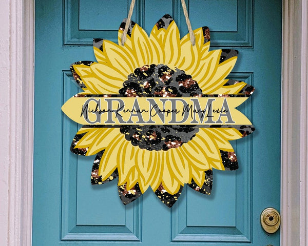 Sublimation print - Personalize your GRANDMA sunflower - Made for our MDF sublimation blanks