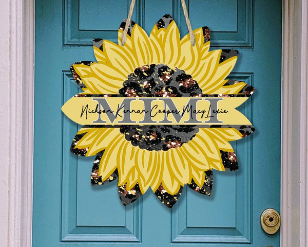 Sublimation print - Personalize your MIMI sunflower - Made for our MDF sublimation blanks