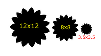 Sunflower Door - Wall Hanger - 3 sizes to choose from -  Sublimation Blank  - 1 sided  or 2 sided options
