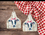 Sublimation print  ONLY ( 14 different sizes) - Cow tag - Made for our blanks